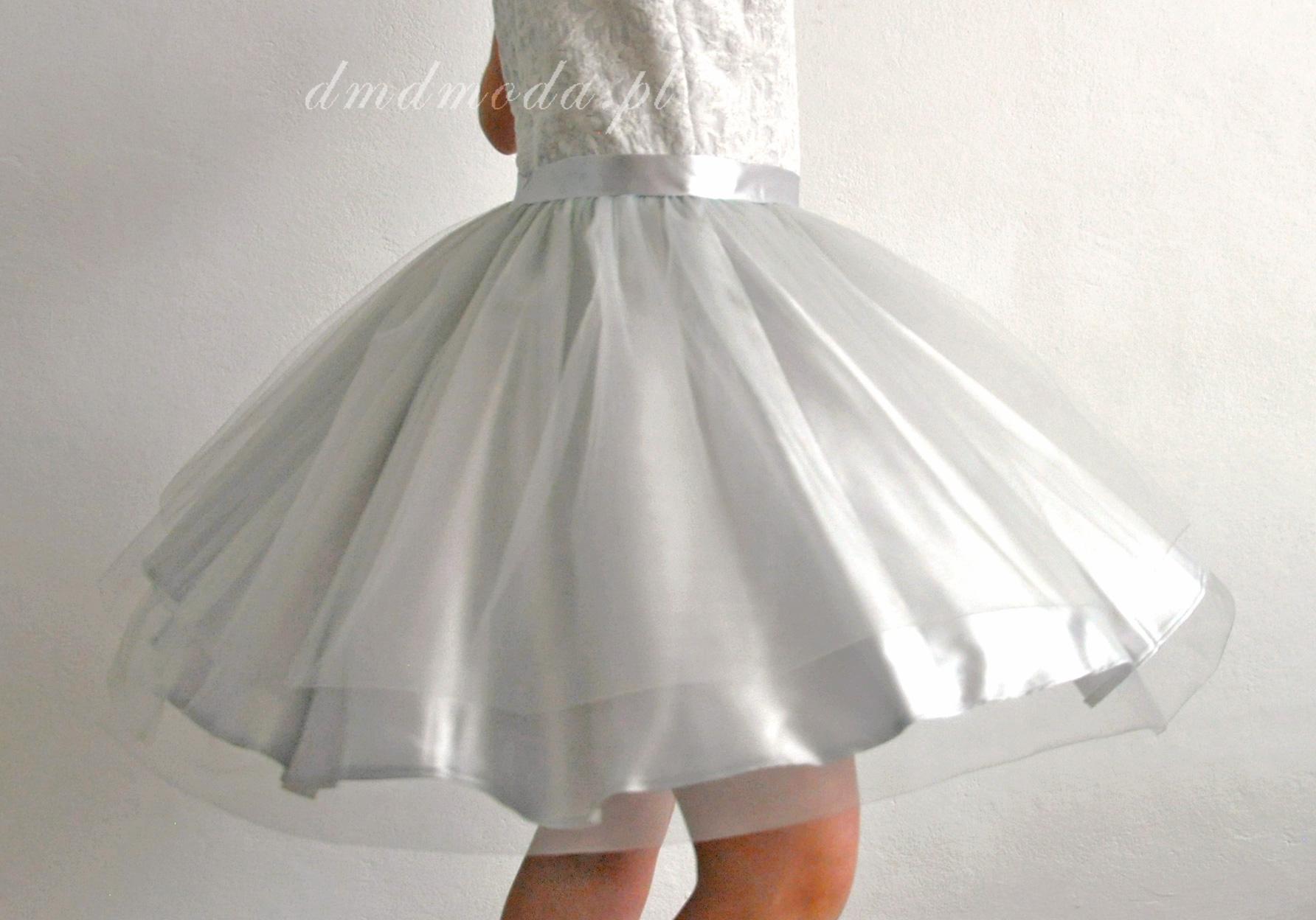 sukienka dla dziewczynki srebrna