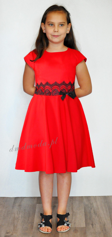sukienka dla dziewczynki czerwona