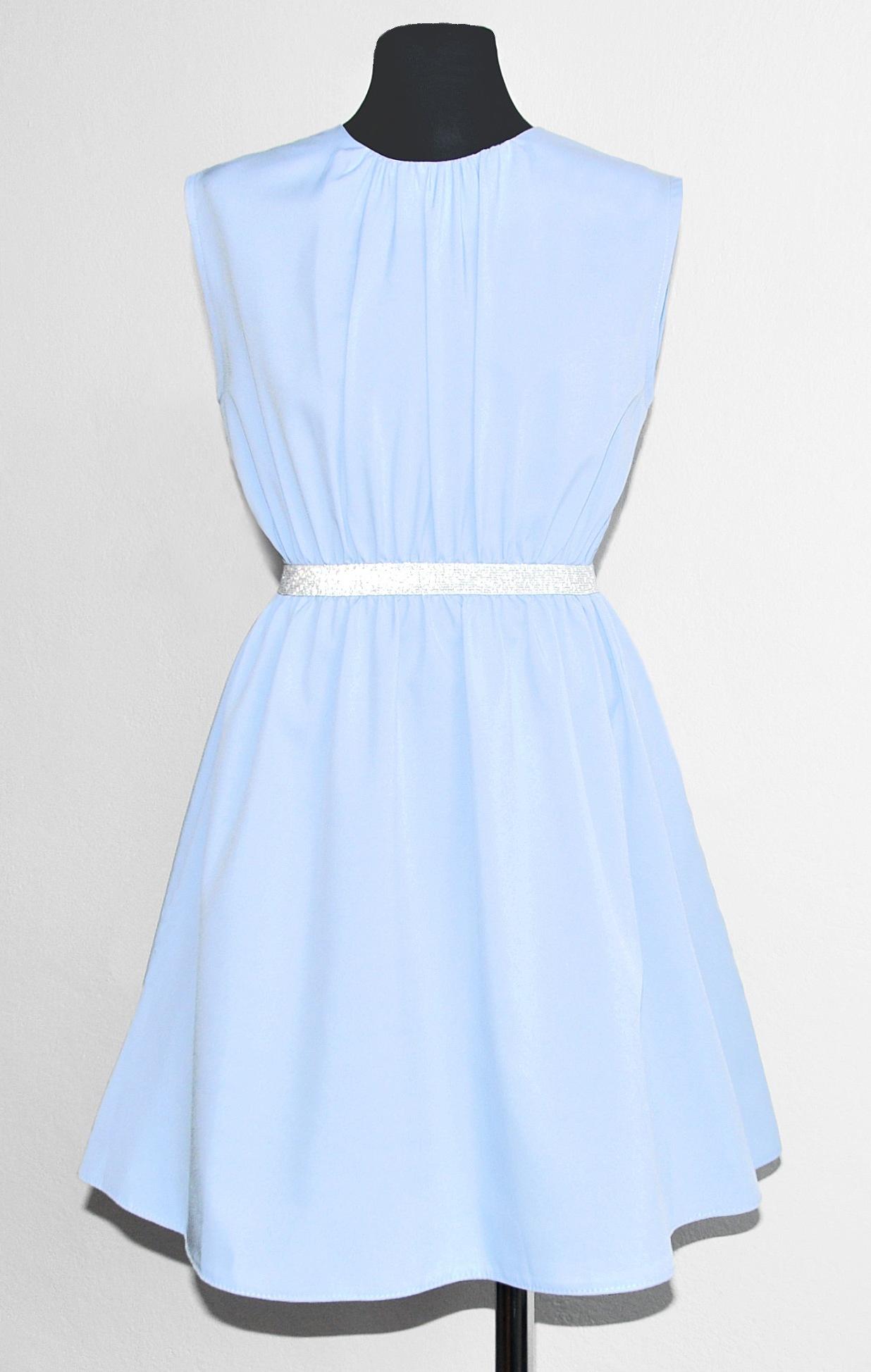 sukienka niebieska dla dziewczynki