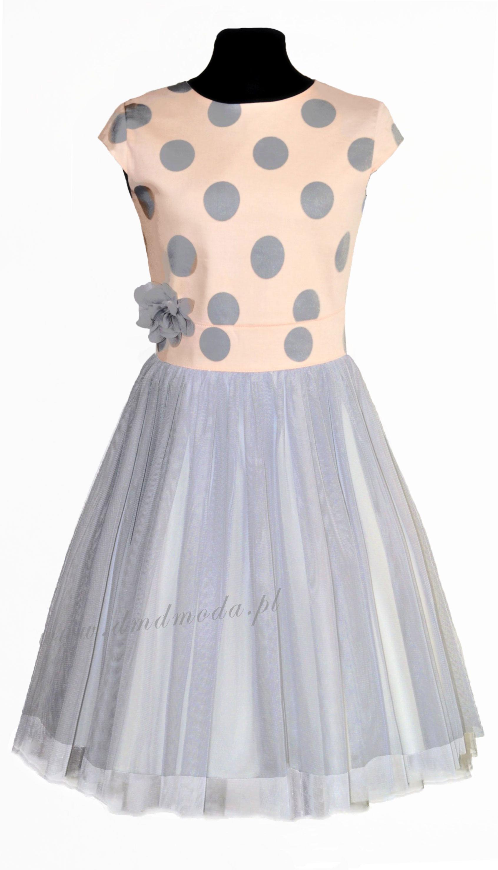 sukienka dla dziewczynki w grochy
