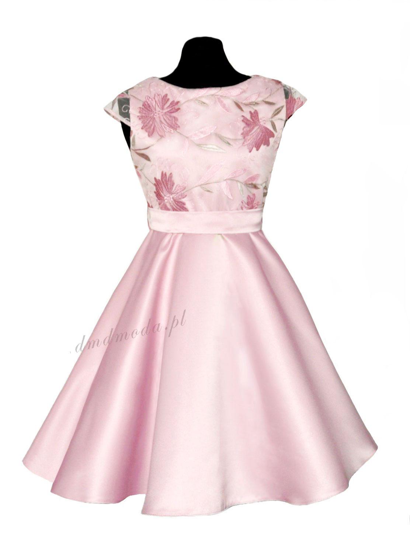 sukienka w kolorze brudny róż