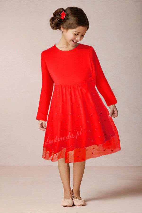 sukienka czerwona dla dziewczynki