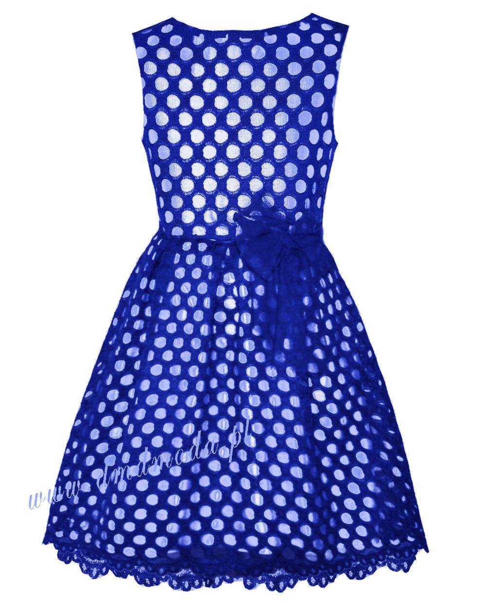sukienka chabrowa dla dziewczynki
