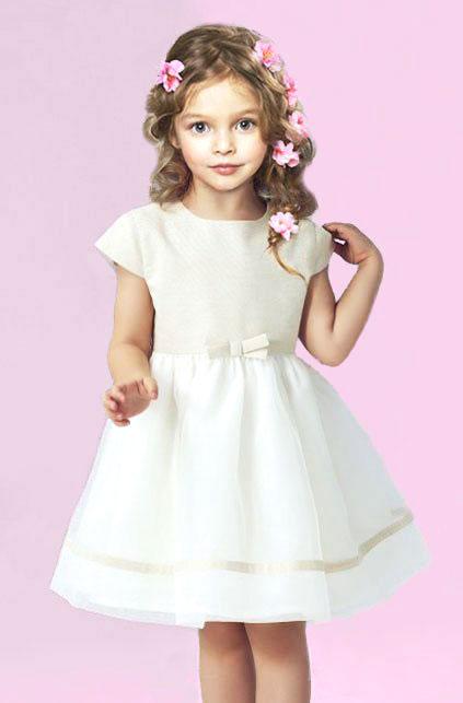 złota sukienka dla dziewczynki