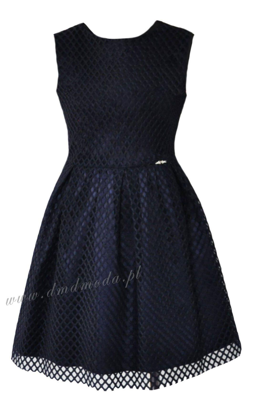 sukienka granatowa dla dziewczynki