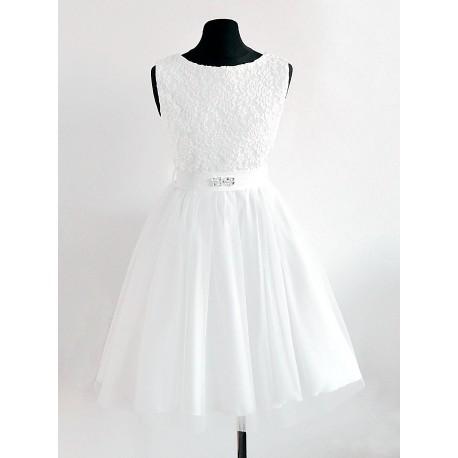 3c6cc3c1a6 Suknia ecru dla dziewczynki na przebranie po I Komunii- LISA