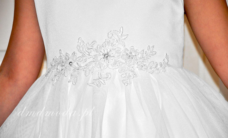 suknia biała dla dziewczynki