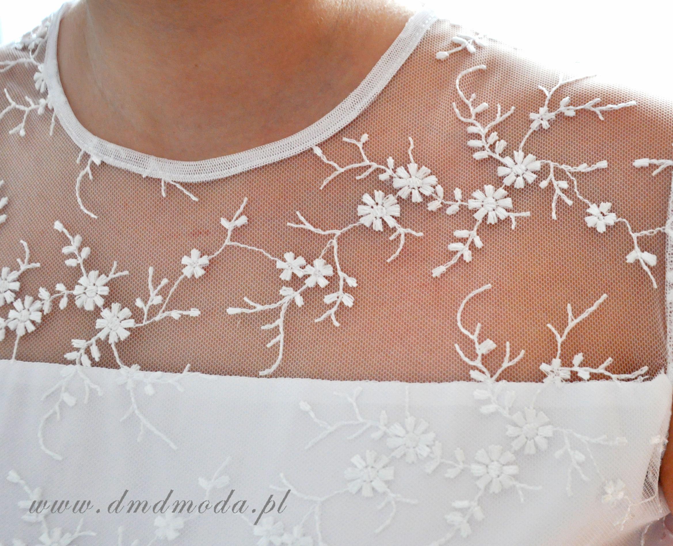 sukienka dla dziewczynki biała po komunii