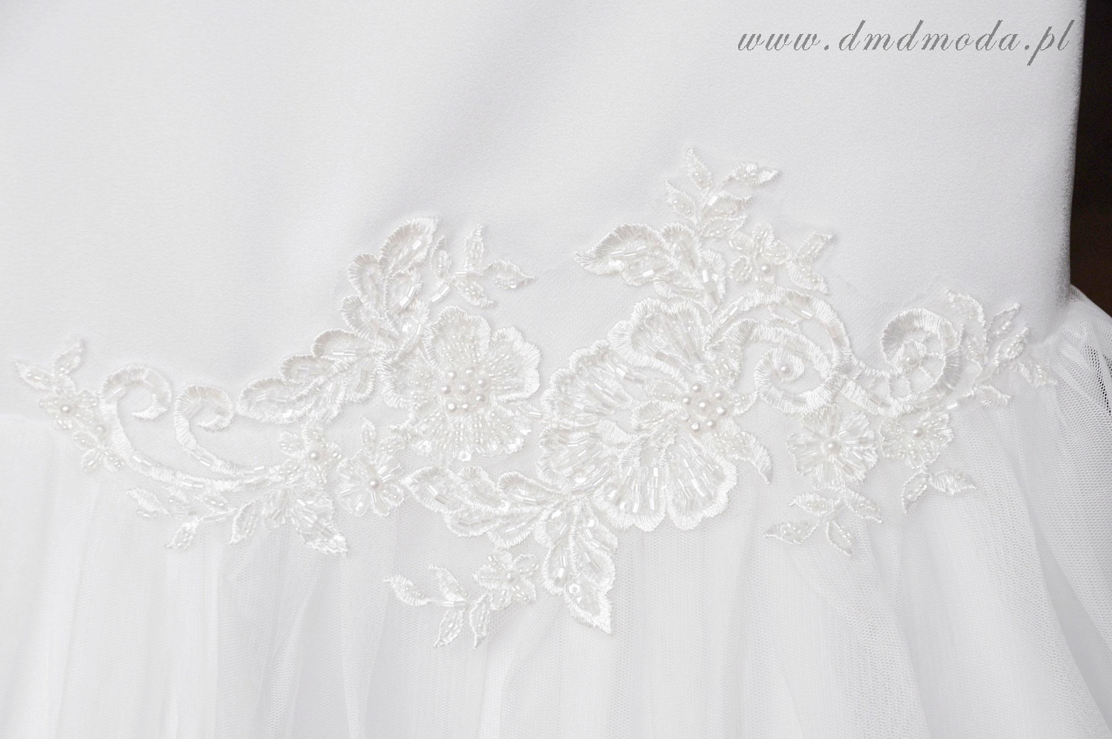 sukienka dla dziewczynki biała